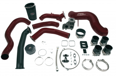 Wehrli Custom Fabrication - 2004.5-2005 LLY Duramax S400 Single Turbo Install Kit