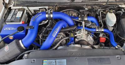 Blueberry Frost (Shown with optional Stage 2 Intake Kit, Driver Side Pipe, Coolant Tank and Coolant Pipe)