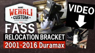 Wehrli Custom Fabrication - Fass Fuel System Relocation Bracket for 2011-2016 Crew Cab Duramax - Image 4