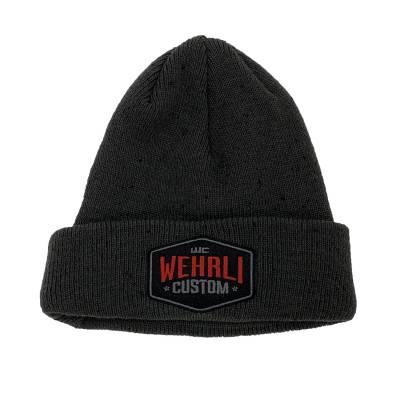 Apparel & Merchandise - Hats - Wehrli Custom Fabrication - Beanie HatCharcoal - Badge