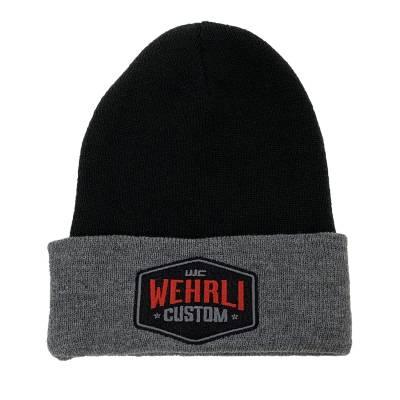 Apparel & Merchandise - Hats - Wehrli Custom Fabrication - Beanie HatBlack/Grey