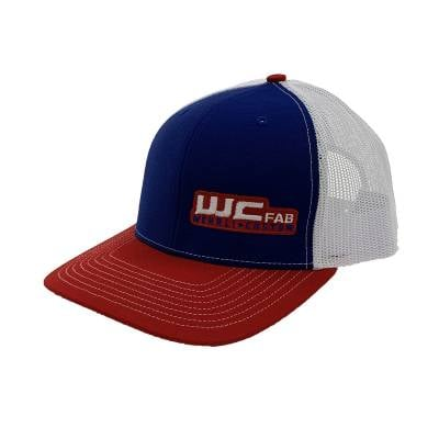 Apparel & Merchandise  - Hats - Wehrli Custom Fabrication - Snap Back Hat Red/White/Blue WCFab