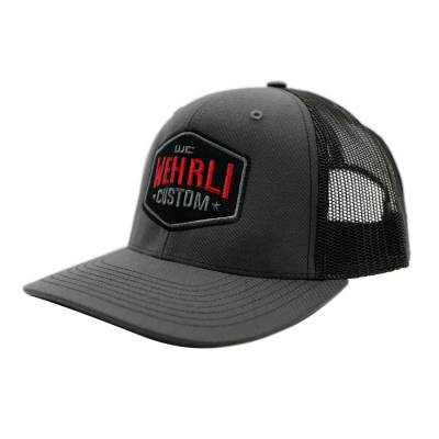 Wehrli Custom Fabrication - Snap Back Hat Charcoal/Black Badge - Image 1