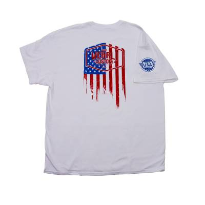 Wehrli Custom Fabrication - Men's T-Shirt- Flag Logo White - Image 1