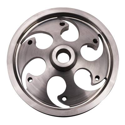 Wehrli Custom Fabrication - Duramax Billet CP3 Pulley Deep Offset Raw Finish - Image 2