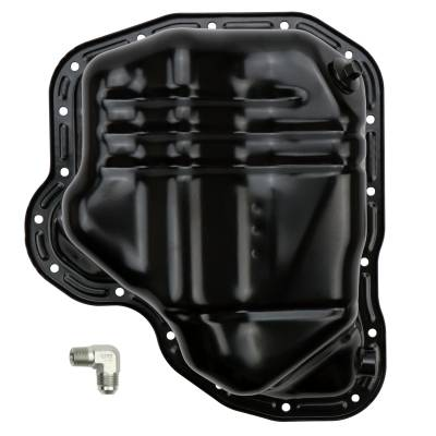Wehrli Custom Fabrication - 2011-2016 LML Duramax Lower Oil Pan with Turbo Drain Fitting