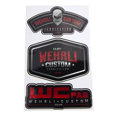 Apparel & Merchandise  - Stickers & Banners - Wehrli Custom Fabrication - Wehrli Custom Assorted Die Cut Sticker Sheet