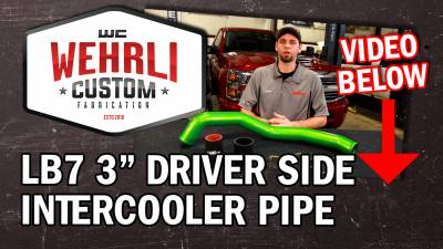 "Wehrli Custom Fabrication - 2001-2004 LB7 Driver Side 3"" Intercooler Pipe - Image 2"