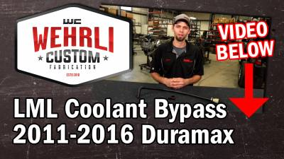 Wehrli Custom Fabrication - 2011-2016 LML Duramax Coolant Bypass Kit with Plug - Image 3