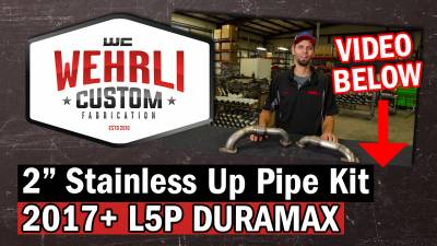 "Wehrli Custom Fabrication - 2017-2019 L5P Duramax 2"" Stainless Up Pipe Kit for OEM Manifolds w/ Gaskets - Image 3"
