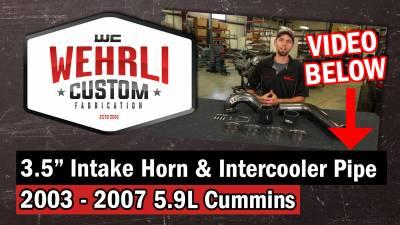 """Wehrli Custom Fabrication - 2003-2007 5.9L Cummins 3.5"""" High Flow Intake Horn & Intercooler Pipe Kit - Image 3"""