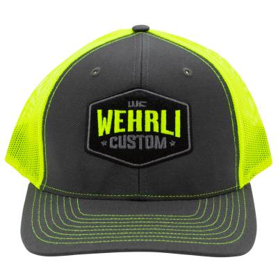 Wehrli Custom Fabrication - Snap Back Hat Charcoal/Neon Yellow Badge - Image 2