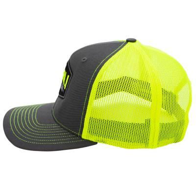 Wehrli Custom Fabrication - Snap Back Hat Charcoal/Neon Yellow Badge - Image 3