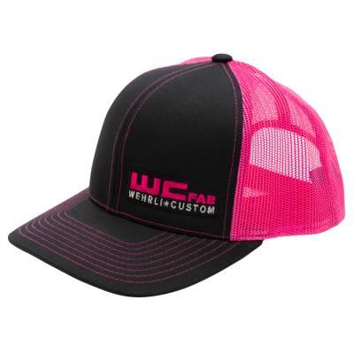 Apparel & Merchandise - Hats - Wehrli Custom Fabrication - Snap Back Hat Black/Pink WCFab