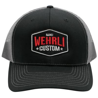Wehrli Custom Fabrication - Snap Back Hat Black/Charcoal Badge - Image 2