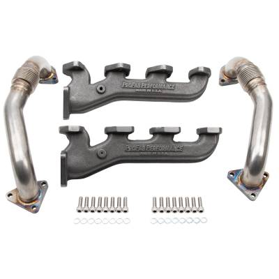 2004.5-2005 LLY - Down Pipes, Up pipes, Manifolds - ProFab Performance  - 2001-2016 LB7/LLY/LBZ/LMM/LML Duramax ProFab Cast Flow Manifolds & Up Pipes Twin Turbo Applications