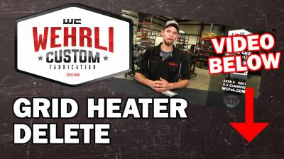 Wehrli Custom Fabrication - 1998.5-2007 5.9L Cummins Intake Grid Heater Delete Kit - Image 2