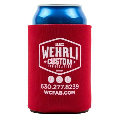 Apparel & Merchandise  - Stickers, Banners, & Accessories - Wehrli Custom Fabrication - Wehrli Custom Adult Beverage Insulator - Red
