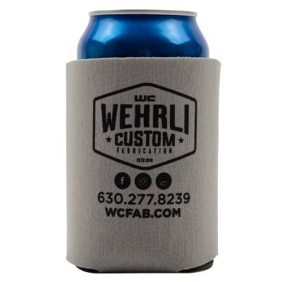 Apparel & Merchandise  - Stickers, Banners, & Accessories - Wehrli Custom Fabrication - Wehrli Custom Adult Beverage Insulator - Grey