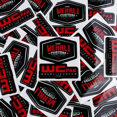 Apparel & Merchandise - Stickers, Banners, & Accessories - Wehrli Custom Fabrication - Wehrli Custom Assorted Die Cut Sticker Sheet