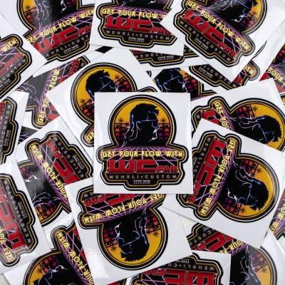 Apparel & Merchandise - Stickers, Banners, & Accessories - Wehrli Custom Fabrication - Get Your Flow Sunset Rider Sticker