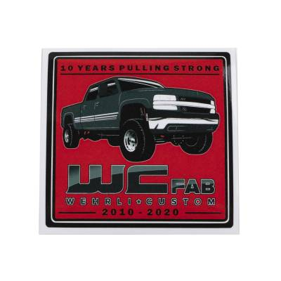 Wehrli Custom Fabrication - 10 Years Pulling Strong Sticker - Image 2