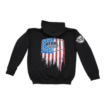 Apparel & Merchandise  - Sweatshirts & Jackets - Wehrli Custom Fabrication - Kid's Pullover Flag Hoodie