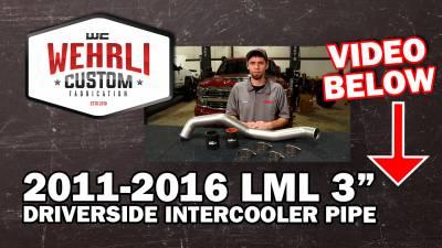 "Wehrli Custom Fabrication - 2011-2016 LML Driver Side 3"" Intercooler Pipe - Image 5"