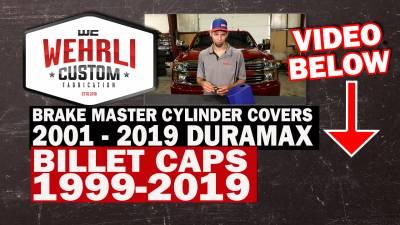 Wehrli Custom Fabrication - 1999-2019 GM 1500/2500/3500 Billet Aluminum Brake Master Cylinder Cap, Clear Anodized - Image 2