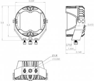 Baja Designs - LP4 Pro LED Light Universal Baja Designs (Pair) - Image 6