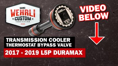 Wehrli Custom Fabrication - 2017-2019L5PDuramax Transmission Cooler Thermostat Bypass Plug - Image 5