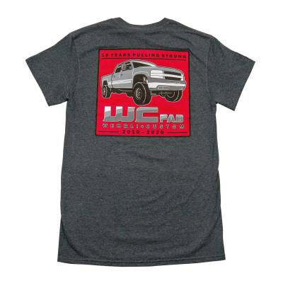 Wehrli Custom Fabrication - Men's T-Shirt- 10 YearsDark Heather - Image 1