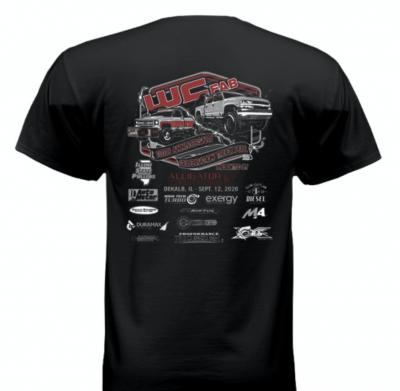 Wehrli Custom Fabrication - T-Shirt -WCFab 10th Anniversary Celebration Truck Pull - Black - Image 1