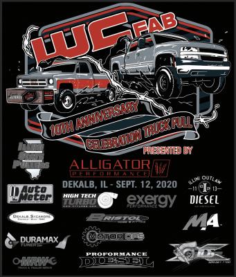 Wehrli Custom Fabrication - T-Shirt -WCFab 10th Anniversary Celebration Truck Pull - Black - Image 3