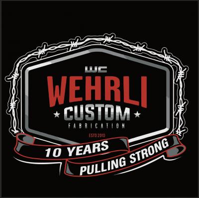 Wehrli Custom Fabrication - T-Shirt -WCFab 10th Anniversary Celebration Truck Pull - Black - Image 4