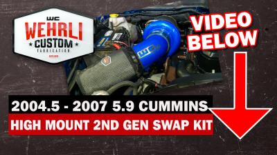 Wehrli Custom Fabrication - 2004.5-2007 5.9 Cummins S300High Mount2nd Gen Swap Kit - Image 3