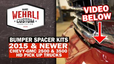 Wehrli Custom Fabrication - 2015-2019 GM 2500/3500HD Truck 3/8 in. Front Bumper Spacer Kit - Image 7