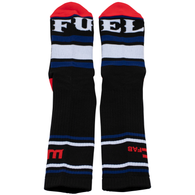 Wehrli Custom Fabrication - WCFab X FUEL Black Crew Socks - Image 4