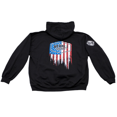 Wehrli Custom Fabrication - Men's Pullover Flag Hoodie  - Image 1