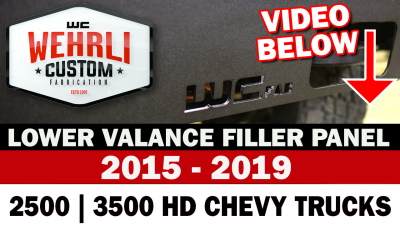 Wehrli Custom Fabrication - 2015-2019 Chevrolet Silverado 2500/3500HD Lower Valance Filler Panel without Tow Hook Cutouts - Image 4