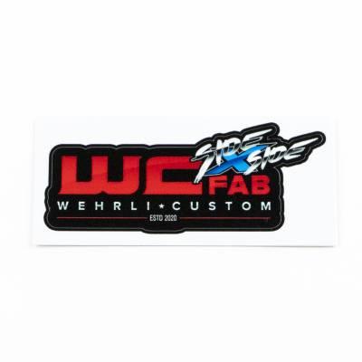 """Wehrli Custom Fabrication - WCFab Side X Side 3"""" Sticker - Image 2"""