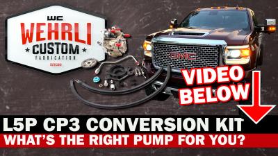 Wehrli Custom Fabrication - 2017+ L5P Duramax CP3 Conversion Kit - Image 2
