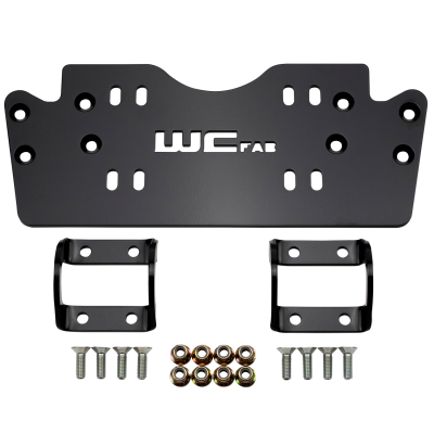 Honda Talon - Bumpers, Winches, & Winch Mounts - Wehrli Custom Fabrication - 2019+ Honda Talon X/R Winch Mount Plate Kit For WCFab Bumper