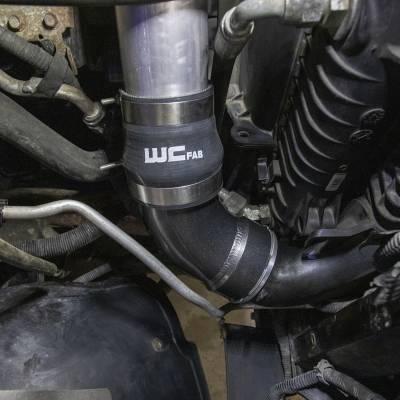 Wehrli Custom Fabrication - 2006-2010 LBZ/LMM Duramax Passenger Side Intercooler Outlet Elbow Kit - Image 2