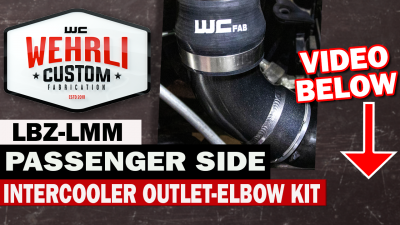 Wehrli Custom Fabrication - 2006-2010 LBZ/LMM Duramax Passenger Side Intercooler Outlet Elbow Kit - Image 3