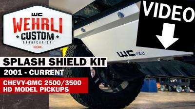 Wehrli Custom Fabrication - 2001-2010 GM 2500/3500 HD Lower Splash Shield Kit - Image 3