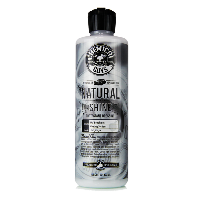Detailing Supplies - Exterior & Engine Compartment - Chemical Guys - Chemical Guys Natural Shine New Look Shine Plastic, Rubber, Vinyl Dressing, 16 fl oz