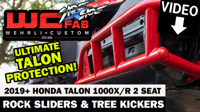 Wehrli Custom Fabrication - 2019+ Honda Talon X/R 2 Seat Tree Kickers - Image 2