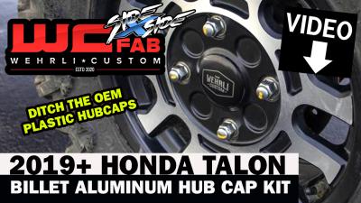 WCFab Side X Side - 2019+ Honda Talon Billet Aluminum Hub Cap Kit for OEM Wheels - Image 8