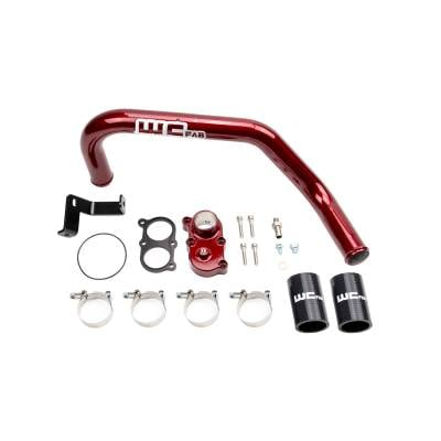 Wehrli Custom Fabrication - 2006-2010 LBZ/LMM Duramax Top Outlet Billet Thermostat Housing and Upper Coolant Pipe Kit for DUAL CP3 - Image 2